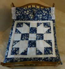 Miniature SISTERS CHOICE 5-Pc. Dollhouse QUILT SET w/ Pillows & Pillowcases 6280