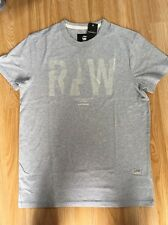 G Star New Mens Blue Heather Regular Fit T Shirt Large RRP £30 **FREE POSTAGE**