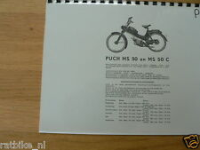P0010 PUCH---TECHNICAL INFO BROMFIETS---MS50 + MS50C-MODELYEAR ABOUT-- 1954-