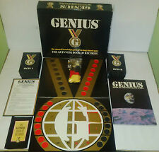 Genius el libro Guiness de registros Juego De Mesa - 1988 Coleccionable conocimiento en muy buena condición