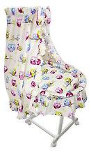 Baby Stubenwagen Eule Babykorb Bettwäsche Untergestell EU-Produkt Design 1W