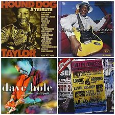 4 blues CD lot LONG JOHN HUNTER,DAVE HOLE,KOKO TAYLOR,LONNIE BROOKS,ELVIN BISHOP