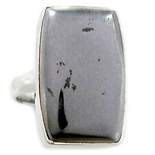Hematite 925 Sterling Silver Ring Jewelry s.8.5 HMTR185