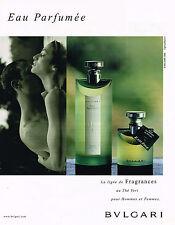 PUBLICITE ADVERTISING 084  1995   BULGARI parfum EAU EXTREME pour homme