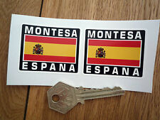 MONTESA ESPANA Spanish Flag Style Stickers 50mm Pair Spain Motorcycle Helmet