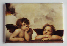 The Two Angels FRIDGE MAGNET (2 x 3 inches) raphael painting