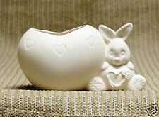 Ceramic Bisque Heart Belly Bunny Clay Magic Mold J1024 U-Paint Ready To Paint