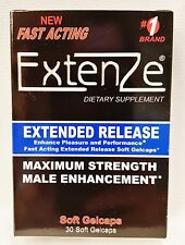 Fast Acting Extenze Extended Release Male Enhancement Dietary 30 Gel Caps 6/2018