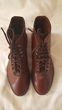 Mont Blanc by Connors Tops Tobacco Brown Women Leather Boots Size 7M US
