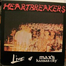JOHNNY THUNDERS/HEARTBREAKERS- LIVE MAX'S KANSAS CITY -LP USA- INSERT PUNK L@@K