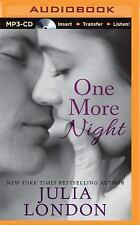 An over the Edge Novel: One More Night 2 by Julia London (2015, MP3 CD,...