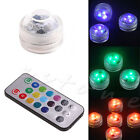 LED Luminous Circular Candle Lights Change Battery Remote Diving Waterproof New