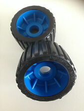 BOAT TRAILER WOBBLE ROLLERS - BLACK/BLUE  x 10 - AUST MADE - SPECIAL