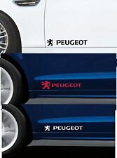 2 x PEUGEOT LOGOS - for Doors - CAR DECAL STICKER ADHESIVE 106 206 - 300mm long