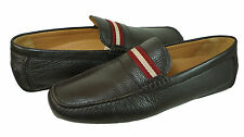 Bally Mens Wabler Black Or Brown Chocolate Slip-on Drivers Loafers Driving Shoes