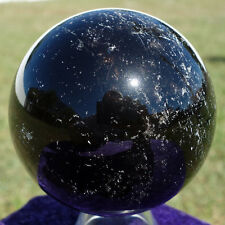 Original MORION Black Smoky Quartz Crystal Sphere Smokey Rainbows Scrying Ball