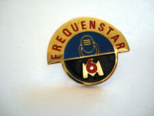 PINS RARE FREQUENSTAR M6 EMISSION TELEVISION TV
