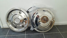 "WHEEL TRIMS 17.5"" TRUCK MOTORHOME HORSEBOX SET 0F 4 BARGAIN , DAF,IVECO, 7.5 TON"