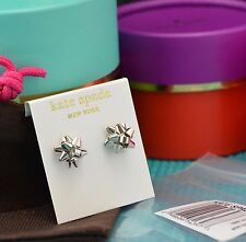 Kate Spade New York Bourgeois Bow sterling silver posts stud earrings + Gift Box
