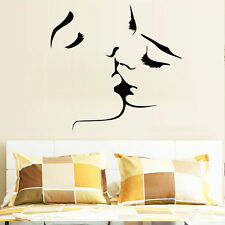 Sexy Kiss Quote Wall Sticker Wallpaper Wall Decal Art Mural Home Wallpaper DIY
