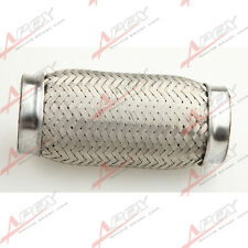 "3.5"" (89mm) ID Exhaust Flex Pipe 6"" Length Stainless Steel coupling Interlock"