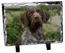 German Wirehaired Pointer 'Love You Mum' Photo Slate Christmas Gif, AD-GWP1lymSL