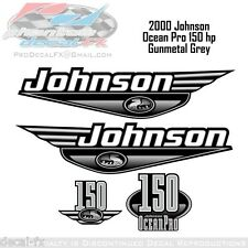 2000 Johnson Ocean Pro 150 HP Outboard Reproduction 4 Piece Vinyl Decals