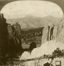 Keystone Stereoview Pike's Peak w/Photographer & Camera 1910s Education Set #ALC
