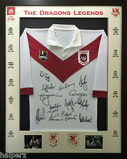Blazed In Glory - St George Illawarra Legends - NRL Signed and Framed Jersey