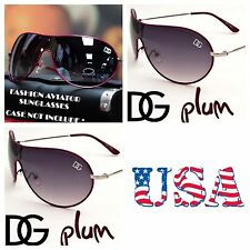 Men Women DG Eyewear Retro Bike Shield Sport Sunglasses UV Shades Avistor PLUM