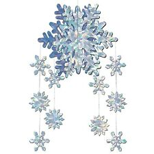 CHRISTMAS FROZEN SNOWFLAKE BIRTHDAY PARTY HANGING MOBILE DECORATION!