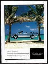 2001 CHRYSLER Sebring LXi Convertible AD Car Advertising