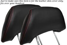 RED STITCH FITS TOYOTA MR2 MK2 1989-2000 2X FRONT HEADREST LEATHER COVERS