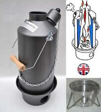 1.5ltr Hard ANODIZED Ghillie camping Kettle, Free UK Postage & Base Stand!