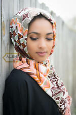"VIVID AFRICAN COLOR SCARF SHAWL MUSLIM HIJAB 66"" X 25"" 