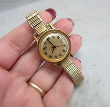 Vtg Timex women's wrist watch. Parts, repair. Gold tone. Calendar