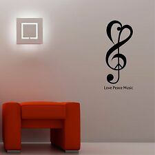 Love Peace Music  - Wall Art Decal Stickers Quality New
