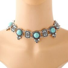 New Arrive Bohemian Fashion Design Turquoise Collars Chunky Necklace