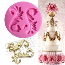 Flourish Scroll Baroque Silicone Fondant Mould Cake Decor Sugarcraft Baking Mold
