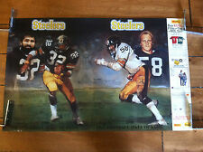 1990 FRANCO HARRIS JACK LAMBERT HALL OF FAME PITTSBURGH STEELERS POSTER 23 X 33