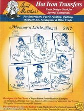 Mommy's Little Angel #3917 Aunt Martha's Hot Iron Embroidery Transfer Pattern