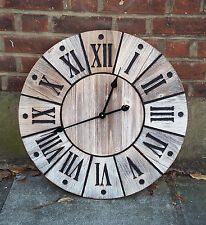 Wooden Station Clock (60cm)