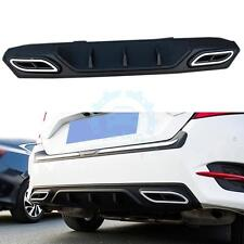 Black Car Rear Bumper Rear Lip Body Spoiler Chin Trim For Honda Civic 10th 2016
