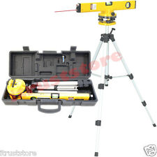 ROTATING SWIVEL LASER LEVEL TOOL KIT WITH TRIPOD STAND SURVEYING LEVELING LAZER