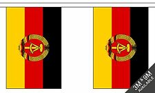 EAST GERMANY 3 metre BUNTING 10 FLAGS flag