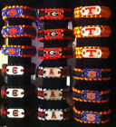 Paracord Bracelets for Survival Kit Gear NCAA Colors, Dog tag Adjustable Shackle
