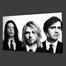 NIRVANA MUSIC CANVAS WALL ART PICTURES PRINTS 30 x 20 Inch FREE UK P&P