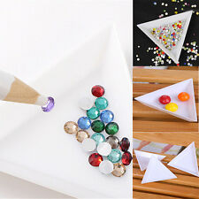 5× Container Holder Tray Triangle Phone / Craft Nail Art Rhinestones Gems Beads