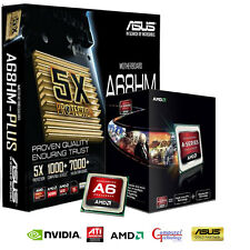 AMD A6 6400K CPU ASUS A68HM-PLUS MOTHERBOARD HDMI GAMING UPGRADE BUNDLE