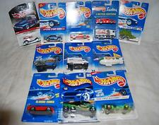 LOT OF 11 HOT WHEELS REAL RIDER METAL '34 FORD, FUJI BLIMP, LUCKY LIMITED 1:64